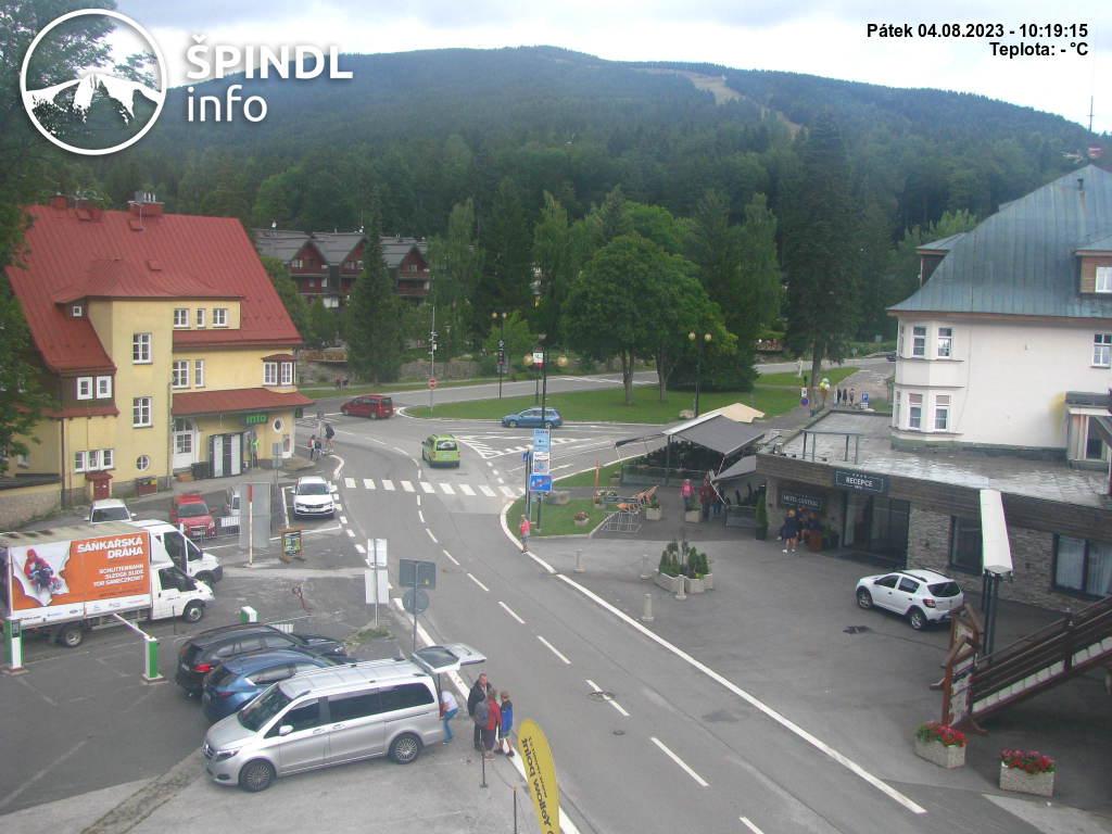 Webcam Skigebiet Spindlerm�hle Ort - Riesengebirge