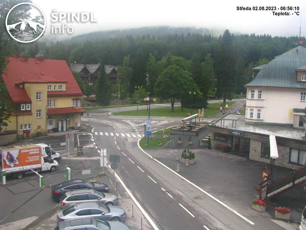 How is going in Špindlerův Mlýn – webkamera